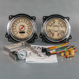 New Vintage USA 1947-1953 Chevrolet Truck Direct Fit Woodward Gauge Package,GMC