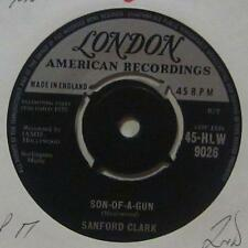 "Sanford Clark(7"" Vinyl 1st Issue 2nd State)Son Of A Gun-London-HLW 9026-UK-Ex/VG"