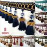 1M Pom Pom Curtain Tassel Fringe Trim Beads Sewing Ribbon Upholstery Fabric