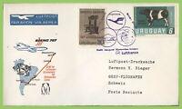 Uruguay 1966 Lufthansa flight cover, Montevideo - Geneva Switzerland