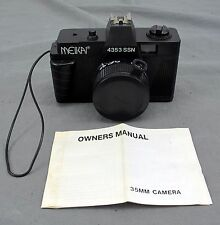 Meikai Vintage Camera 4353 SSN Optical Lens 50mm Series w/ Lens Cover And Manual