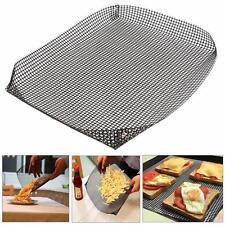 Non-stick Chip Mesh Oven Baking Tray Basket Grilling Pan Sheet Crisper Kitchen
