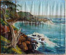 MARY MAISON, LISTED, POINT LOBOS COAST CALIFORNIA COASTAL PLEIN AIR SEASCAPE OIL