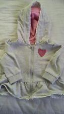 Baby Girl 3-6 months F&F Zip front hooded grey cotton & polyester dress