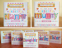 birthday cards mum sister auntie niece daughter godmother cousin special cards