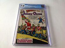 SUPERMANS PAL JIMMY OLSEN 60 CGC 7.0 WHITE PAGES FLAG OF KRYPTON DC COMICS