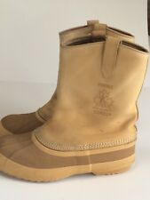 Sorel Slip-On Hunting Duck Boots Mens Size 11-N Waterproof Thinsulate Liner