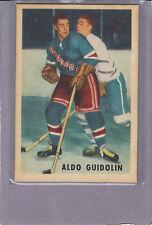1953-54 PARKHURST #66 ALDO GUIDOLIN ROOKIE CARD NEW YORK RANGERS