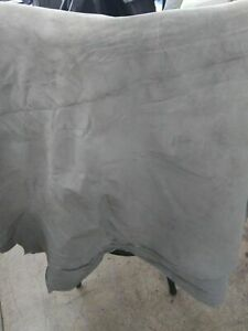 Italian Top Quality Pig Suede Pigskin Hide leather skin Light Gray 10 Sq.Ft 1 oz