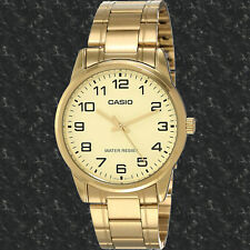 Casio MTP-V001G-9B Men's Gold Dial Analog Watch Gold Stainless Steel Band New