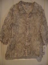 NWT BonWorth Silver Sheer Jacket Size XL