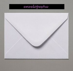 C5 White Envelopes for A5 Cards 100gsm Gummed Diamond Flap Craft FREE P&P !!!