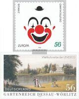 BRD 2272,2277 (kompl.Ausg.) selbstklebende Ausgaben gestempelt 2002 Zirkus, Dess