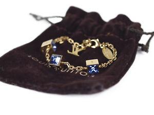LOUIS VUITTON Cube Gold Toen Plated Bracelet LA2617