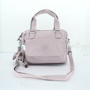 NWT Kipling HB7203 Zeva Small Satchel Crossbody Handbag Polyamide Mystery Purple