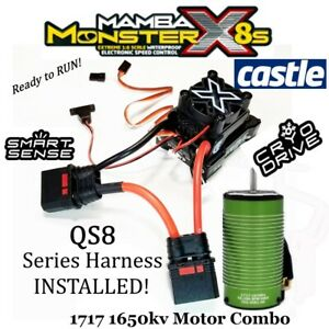 Castle Creations Mamba Monster X 8S ESC/1650kv Motor QS8 Series Harness Attached
