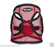Dog Harness Puppy RED Step In Netted EZ Wrap Choke Free Bark Appeal XXS S M L XL