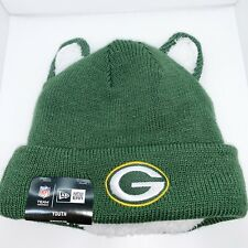 New era youth Skully One Size Color Green Green Bay Packers Logo