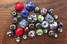 Vintage Czech & Japan Mixed Styles Colors Art Glass & Ceramic Bead Destash Lot