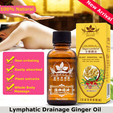30ML Plante Naturelle Huile De Gingembre Thérapie Massage Drainage Lymphatique