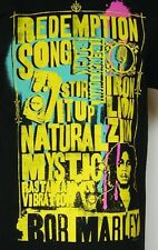NEW NWOT Bob Marley Redemption Song Iron Lion Zion Black T-Shirt M