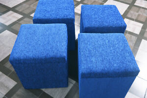 Lounge Lobby Stool Ottoman Square Chair Dressing Table Stool Cube Seat Foot Box