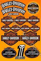Harley Chopper Sportster Dyna Stickers Softail decals V-Rod Iron Glide