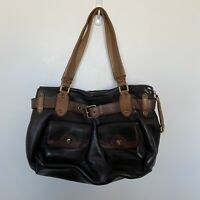 Cole Haan Collection Handbag Purse Brown Tan Pebbled Leather w/ Shoulder Straps