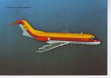 Postcard 1387 - Aircraft/Aviation Fokker F-28 Fellowship Aviaction