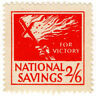 (I.B) Cinderella Collection : National Savings - Flaming Cross 2/6d