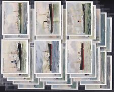 """WILLS, FAMOUS BRITISH LINERS, 2ND SERIES OF 30 LARGE CARDS ISSUED IN 1935 """"EXC"""""""