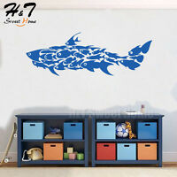 Large Shark Fish Removable Art Vinyl Wall Sticker Decal Kids Room Nursery Decor