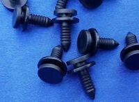 (2227 A) 10x Verkleidung Clips Befestigung Klips Halter Tür Zierleisten schwarz