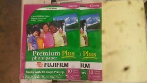 Fujifilm Premium Plus Glossy Photo Paper 8.5 x 11 - 2 packs 10 sheets per pack