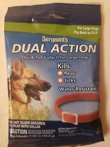 Sergeants dual action flea & tick collar large DogsNEW/SEALED water resistant