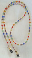 14k Gold GF & Multi Colored Crystal Eyeglass Chain (2934) Lanyard