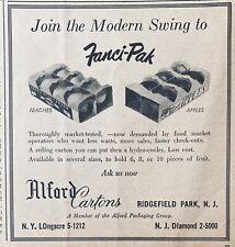 1955 AD.(XG11)~ALFORD PACKAGING GROUP, RIDGEFIELD, NJ. FANCI-PAK APPLE CARTONS