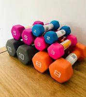 💥NEW Neoprene Rubber DUMBBELL KETTLEBELL Weights 2 3 5 8 10 15 20 25 30 35lb 💥