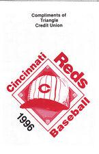 1996 CINCINNATI REDS BASEBALL POCKET SCHEDULE  - TRIANGLE CREDIT UNION