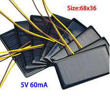 10PCS 5V 60mA 68*36 Micro Mini Solar Cell Panel Battery Charger for DIY Projects