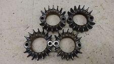 72 Honda CB350 Four CB350F H1289' exhaust header manifold clamp flange set #1