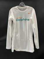 MIAMI DOLPHINS GAME USED DRI-FIT LONG SLEEVE COMPRESSION SHIRT SIZE XL