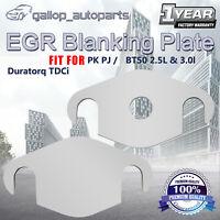 2x EGR Blanking Plate Fit Ford Ranger PK PJ Fit Mazda 2.5L 3.0L Duratorq TDCi