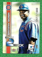 2003 Fleer Ultra Back 2  TOPICS  0611 /1000 Sammy Sosa As shown