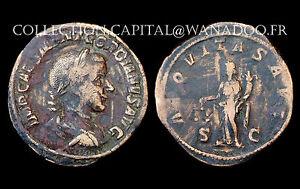 Sesterce Gordien III° (238-244 Ap. J.C.) Rome. L'Equite debout. Bronze