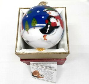 Pier 1 Imports 2015 Santa With Friends Li Bien Christmas Glass Ornament New Box