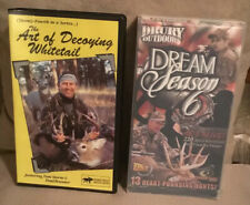 2 VHS TAPES: DEER HUNTING LIVE! 17 HARVESTED BUCKS! Bow & Rifle Hunts RARE FIND!