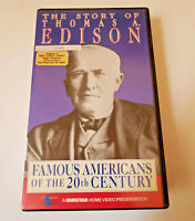 Famous Americans of the 20th Century 1991 VHS Thomas Edison Questar