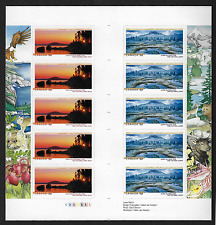 Canada Stamps -Gutter Pane of 10 -National Parks #2224b (2223a & 2224a) -MNH