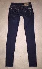 MISS ME JEANS SIGNATURE SKINNY LEG 27 X 35 BLING BUCKLE MINT CONDITION